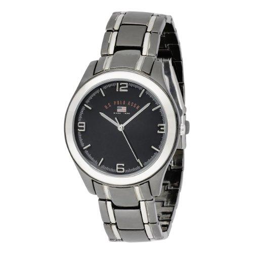U.S. Polo Assn. Classic Men'S Us8218Exl Black Dial Extra Long Gun Metal And Silver-Tone Bracelet Watch