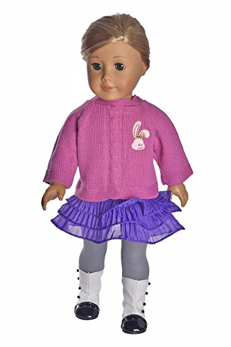 Ebuddy Handmade Sweater Including Top Skirt Leggings Doll Clothes Fits 18 Inch Girl Doll - 1