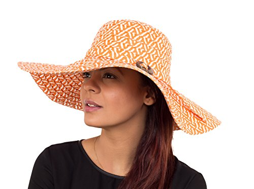 women-wide-floppy-brim-summer-sun-straw-hat-orange-white