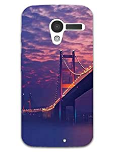 Starry Night Bridge - Photographic - Hard Back Case Cover for Moto X - Superior Matte Finish - HD Printed Cases and Covers