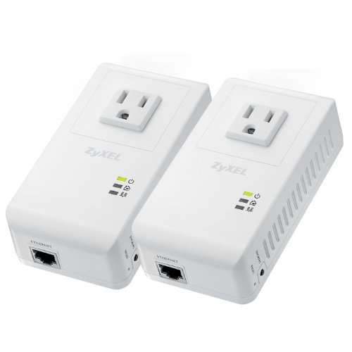 ZyXEL Powerline AV 500 Mbps Wall-Plug Adapter Starter Kit with 2 Units (PLA4215KIT)