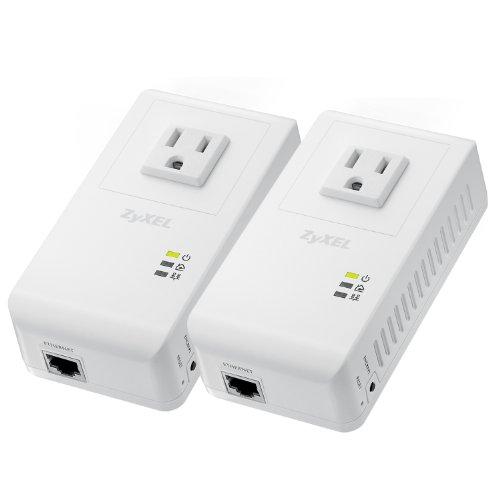 ZyXEL Powerline AV 500 Mbps Wall-Plug Adapter Starter Kit with 2 Units (PLA4215KIT)