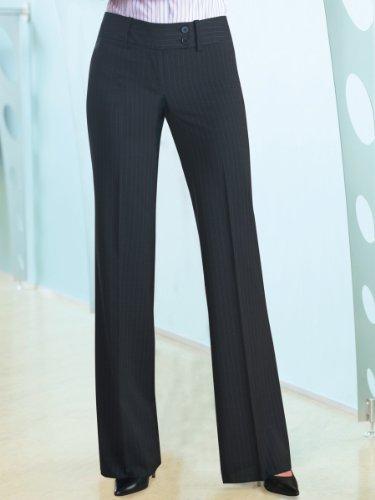 Brook Taverner Miranda Suit Trouser in Charcoal Pinstripe 18-XL