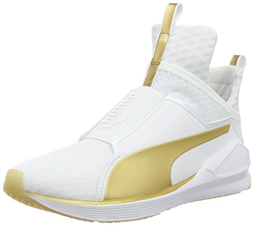 Puma Fierce Gold, Sneaker Donna, Bianco (WHITE-GOLD 01), 39