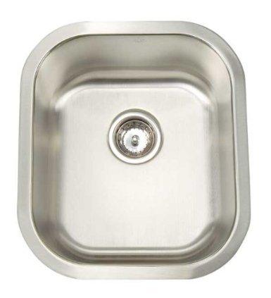 Artisan Manhattan Undermount Stainless Stl 15-1/2X17-3/4X8 0-Hole Bar/Prep Sink - Mh1618D8-D