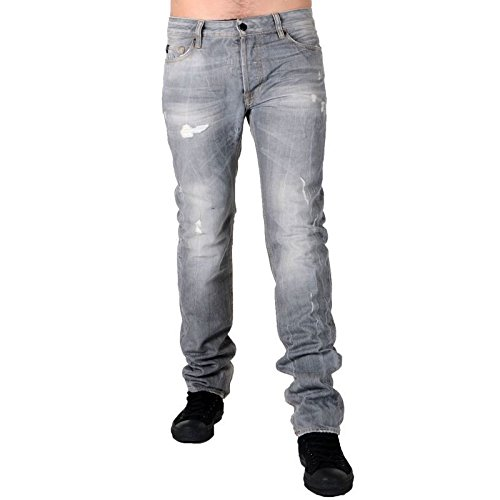 Japan Rags-Jeans Japan Rags Basic 611 CO2 Broken, colore: grigio