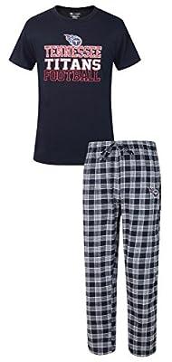 "Tennessee Titans NFL ""Medalist"" Men's T-shirt & Flannel Pajama Pants Sleep Set"