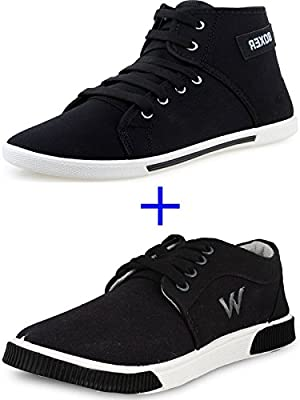 SCATCHITE Combo Pack of 2 Black Casual Shoes
