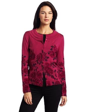 (精美)Pendleton Rose Printed Cardigan100%美利奴羊毛玫瑰印花外套,仅售$96.39