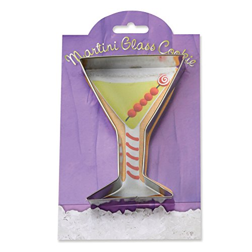 Martini Glass Cookie and Fondant Cutter - Ann Clark - 4.8 Inches - US Tin Plated Steel (Martini Cookie Cutter compare prices)