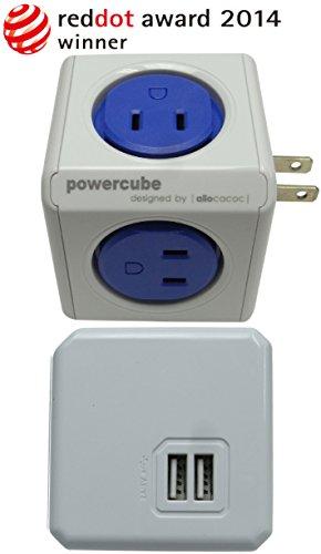 電源タップ power cube 全4色 (4コンセント+1USB)