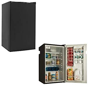 4.0cf Fridge w Freezer Black