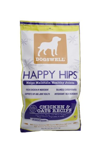 Dogswell Happy Hips for Dogs, Chicken &#038; Oats Dry Dog Food, 22.5-Pound Bag