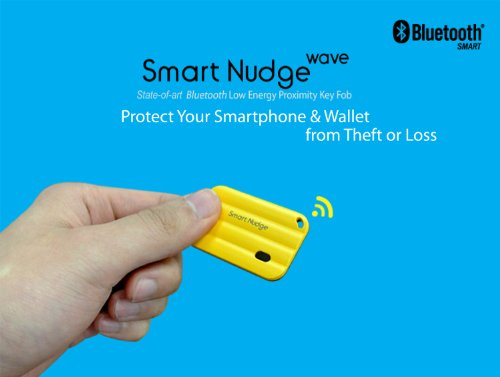 "Anti-Loss, Anti-Theft, State-Of-The-Art Bluetooth Smart Proximity Key Fob To Protect Smartphone & Valuables, For Iphone & Samsung Galaxy. ""Smart Nudge"""