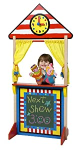 ALEX Toys Pretend & Play Floor Standing Puppet Theater with Clock