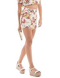 Shuffle Women's Shorts (1021616848_Orange Mix_Medium)