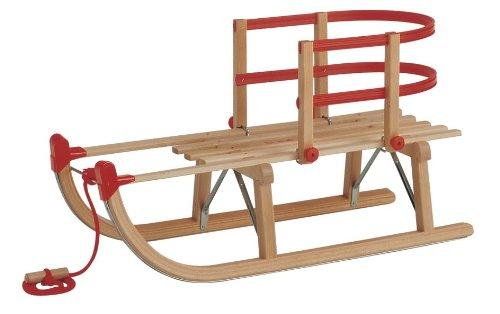 Gloco Davoser Rodel 90 cm, inkl. Kinderlehne und Zugseil