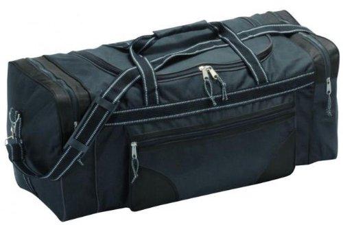 Geräumige Reisetasche bzw. Sporttasche, schwarz