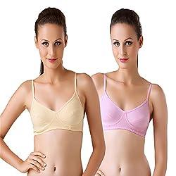 Bodyline Hosiery Non Padded Skin and Pink Bra