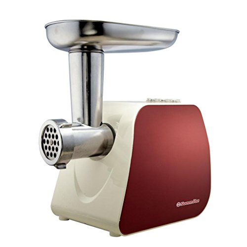 Sunmile Electric Meat Grinder SM-G35, Red and White