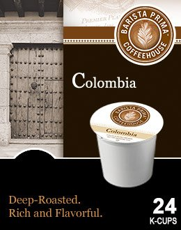 Barista Prima Coffee COLOMBIA 1 Box of 24 K-Cups for Keurig Brewers
