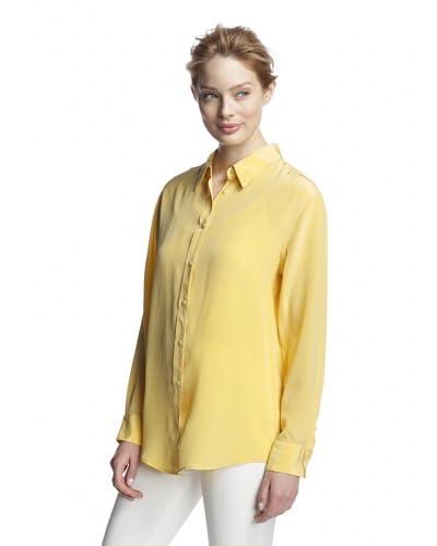 Craig Taylor Women's Crown Jewel Washed Silk Boyfriend Shirt