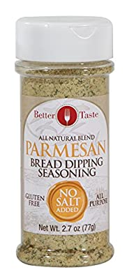Parmesan Bread Dipping Seasoning All Natural Blend, No Salt Added, & Gluten Free by Santiva Inc