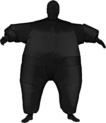 Morris Costumes Men's Inflatable Skin Suit Costume, Black, One size