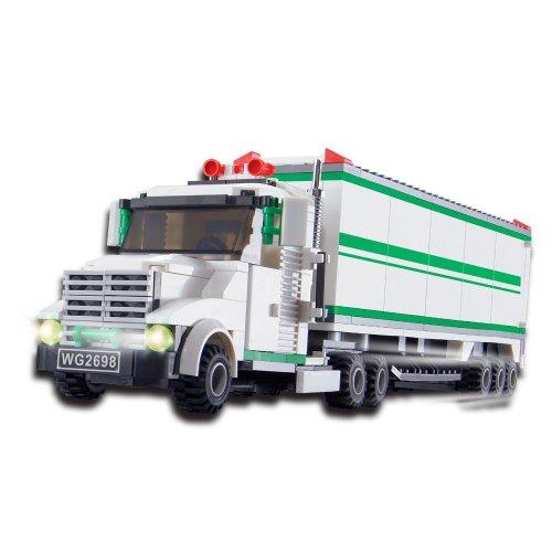TRUCK SET - BUILDING BLOCKS +2 mini figures 352 pcs 37101 in LARGE GIFT BOX