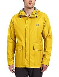 Helly Hansen Men\'s Lerwick Rain Jacket, Essential Yellow, Large
