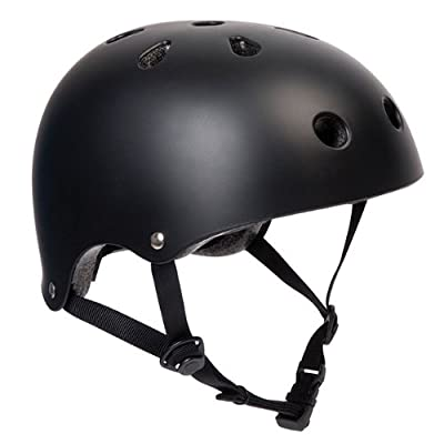 PedalPro Matt Black BMX Bike/Skate Helmet