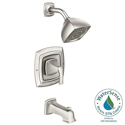 Moen Hensley Single-Handle 1-Spray Tub and Shower Faucet in Spot Resist Brushed Nickel (Moen Single Handle Tub Faucet compare prices)