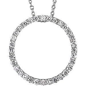 IceCarats Designer Jewelry Platinum Diamond Pendant