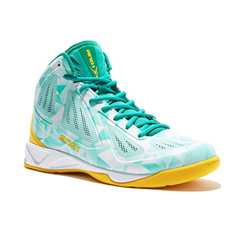 AND1 Mens Xcelerate Basketball Shoe 11.5 Green/Yellow