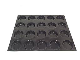 Sasa Demarle FP 02891 Round Cake Molds Flexipan, 24 Cavities, 18'' Length, 13'' Width, 1.5'' Height
