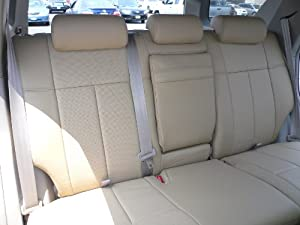 2013 2014 nissan altima 4 door s se tan beige clazzio leather seat cover automotive. Black Bedroom Furniture Sets. Home Design Ideas