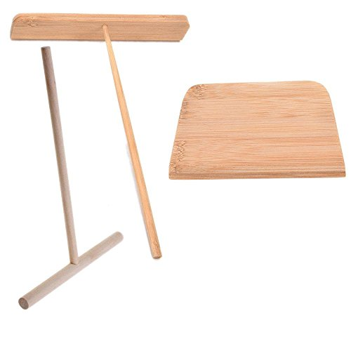 Read About 3 Pcs/Set T-Shaped Crepe Spreader Wood & Bamboo Batter Spreader By Crqes