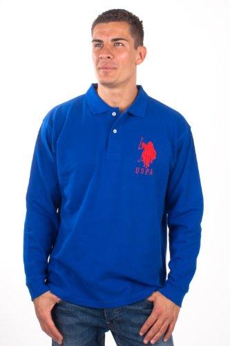 U.S.Polo Assn. men's Poloshirt Pique Deluxe Royalblue USP1050, Größe:XXL