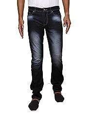 John Wills Men's Slim Fit Jeans (MCR1014--42, Black, 42)