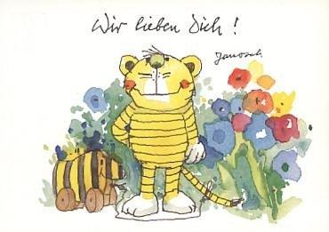 Janosch Postkarte Wir lieben Dich