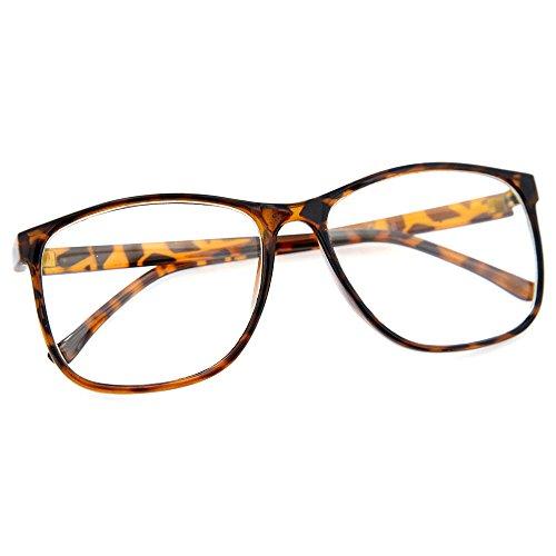 Big Plastic Frame Glasses : grinderPUNCH Tortoise Large Nerdy Thin Plastic Frame ...
