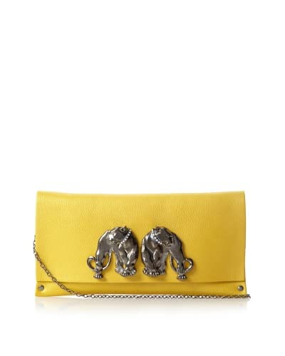 Moss Mills Women's Barret Twin Panthers Envelope Clutch, Sulphur As You See