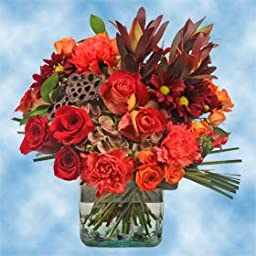 Fall Vase Flower Bouquet