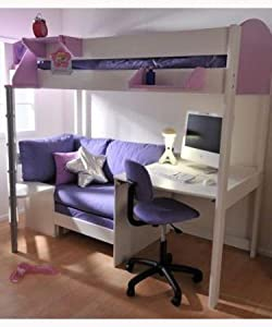 stompa 2a casa hochbett mit schreibtisch bett sofa amp. Black Bedroom Furniture Sets. Home Design Ideas