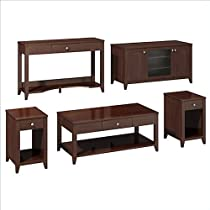 Hot Sale kathy ireland Office by Bush Furniture Grand Expressions Americana Family Work-N-Play Collection, 47-Inch Bundle, Warm Molasses
