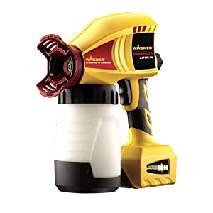 Wagner Cordless Power Painter 18 Volt Lithium with Optimus Dual Tip 6.6 Gallons Per Hour with Backpack 1-hour Charger 2 Batteries Plus Accessories Spray Anywhere, Anytime Go Where Other Sprayers Can't!!