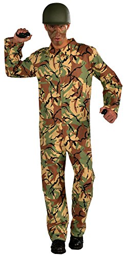 Forum Novelties Men's Combat Hero Army Jumpsuit Costume