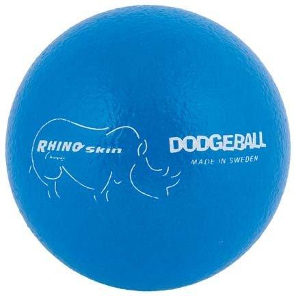 Champion Sports Rhino Skin Dodge Ball-Set of 6 (Neon Blue)