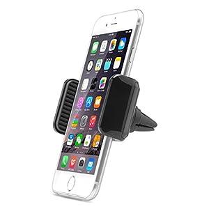 AUKEY Soporte Móvil Coche para Rejillas del Aire de Coche Sostenedor Universal 360 grados para iphone 6 / 6s / 6 plus / 6s plus / ipad / Sony Xperia / Samsung Galaxy s6, etc ( Negro )