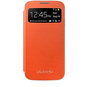 Samsung S View Premium Cover for Galaxy S4 - Orange